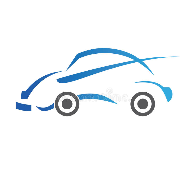 логос конструкции автомобиля иллюстрация вектора