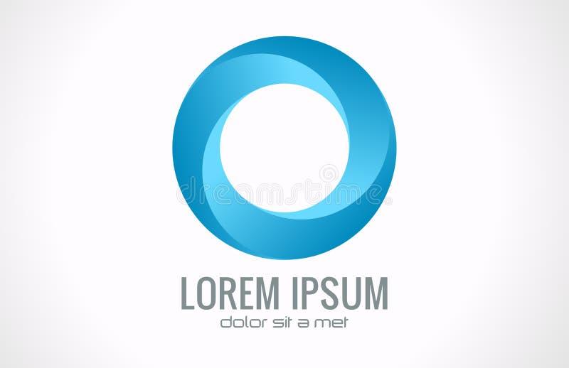 Логос круга абстрактный бесплатная иллюстрация