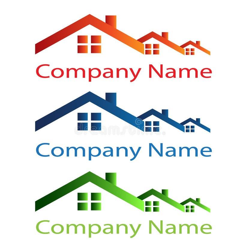 Логос крыши дома иллюстрация вектора