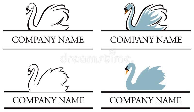 Логос лебедя бесплатная иллюстрация