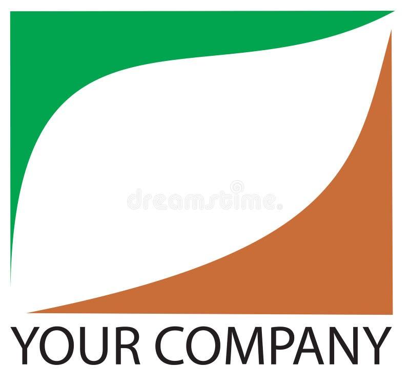 логос листьев иллюстрация штока