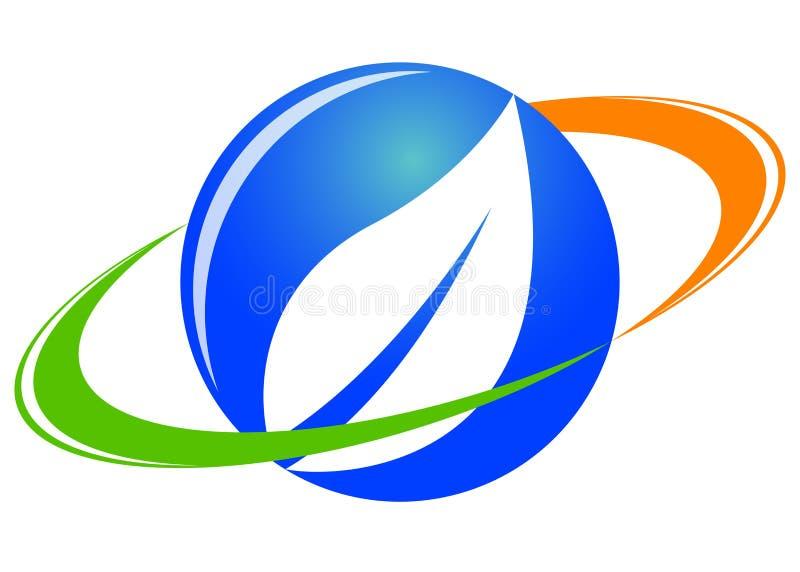 логос листьев иллюстрация вектора