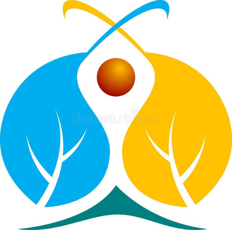 Логос листьев бесплатная иллюстрация