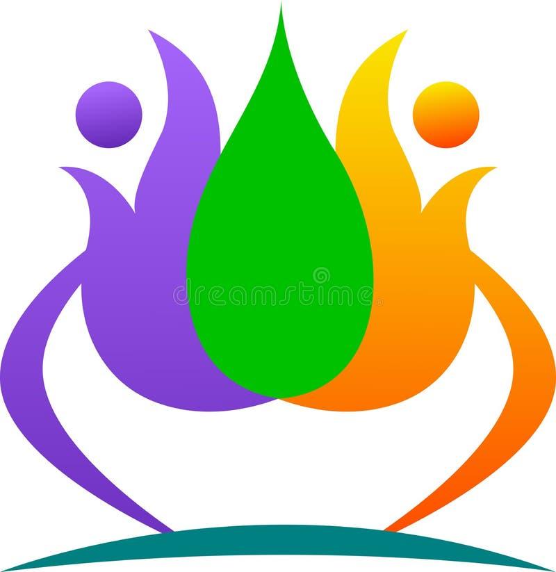 Логос лотоса иллюстрация штока