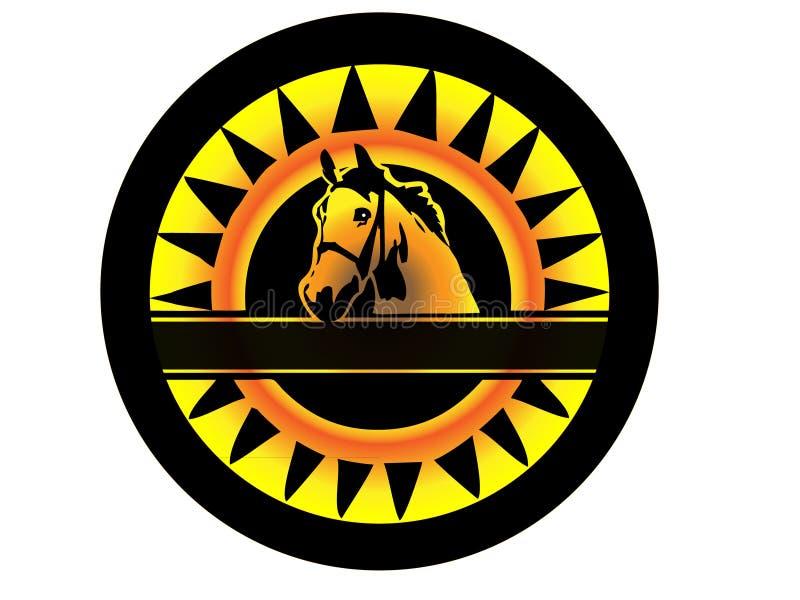 логос лошади красотки иллюстрация вектора