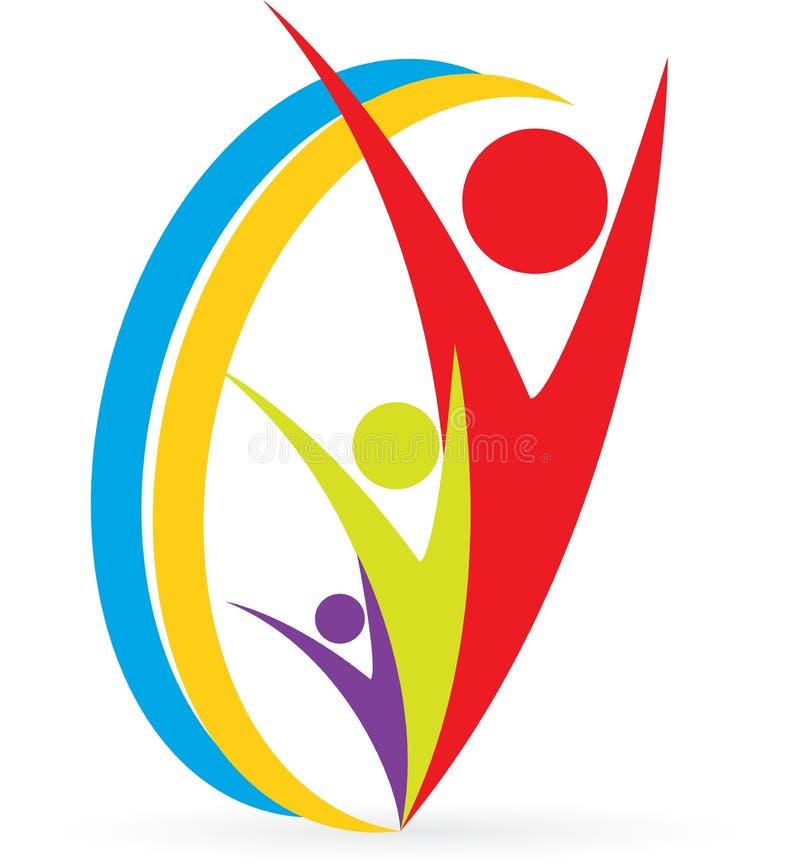Логос людей иллюстрация вектора