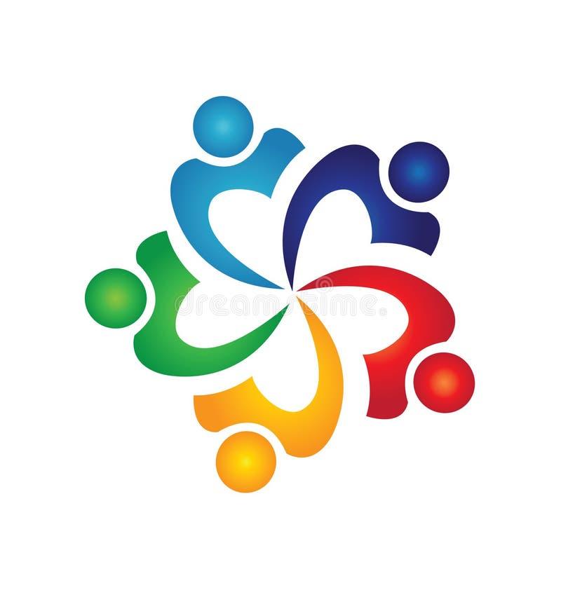Логос людей Swoosh иллюстрация вектора