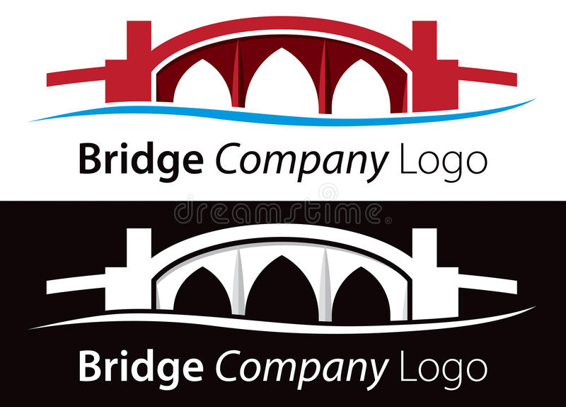 Логос моста иллюстрация штока