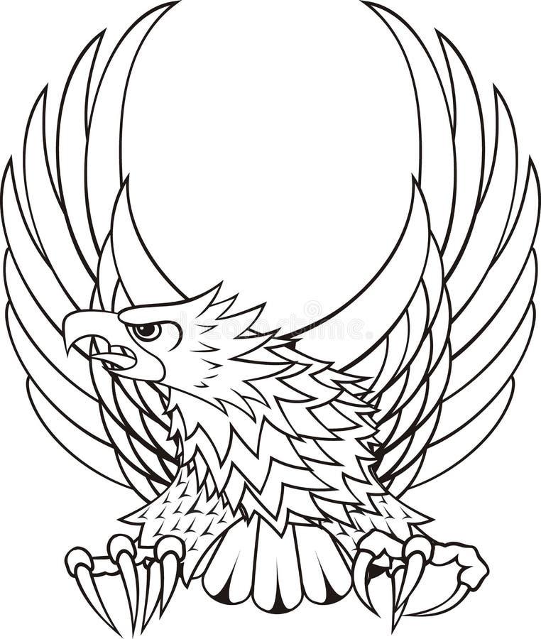 логос орла гребеня иллюстрация штока