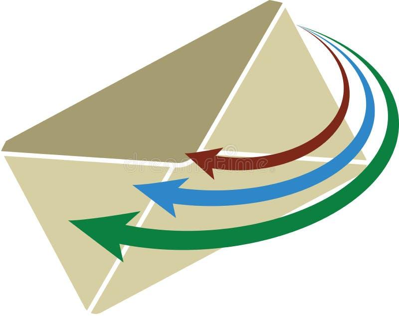 логос письма иллюстрация штока