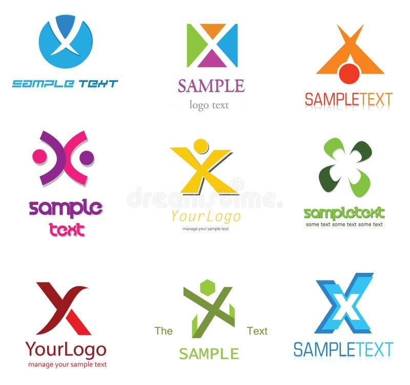 логос x письма иллюстрация вектора