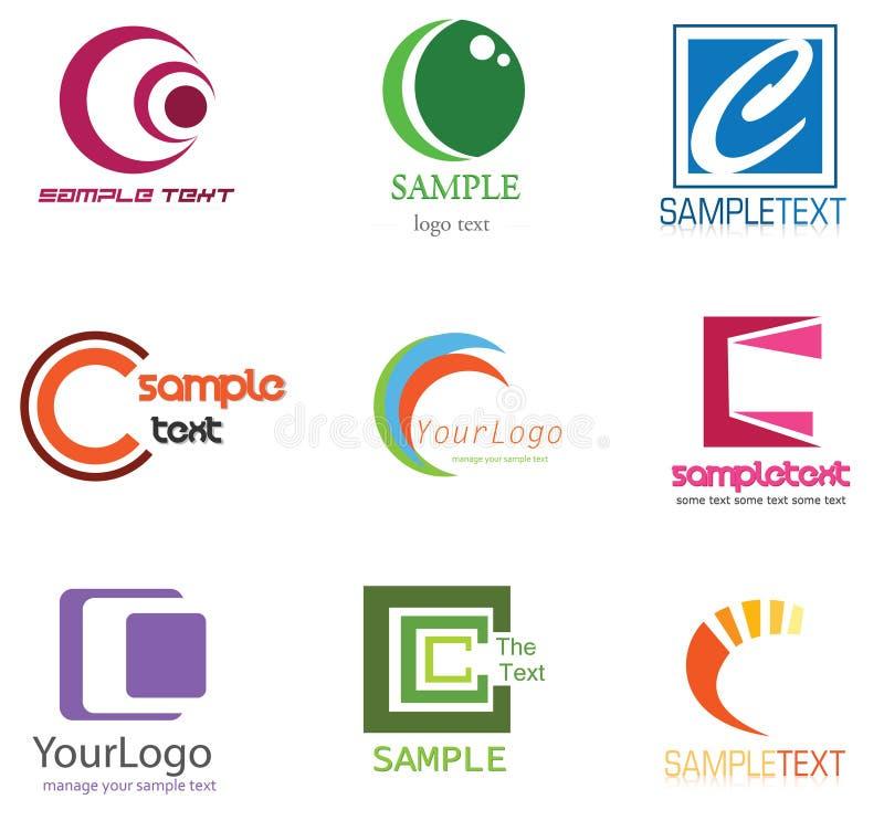 логос письма c иллюстрация вектора