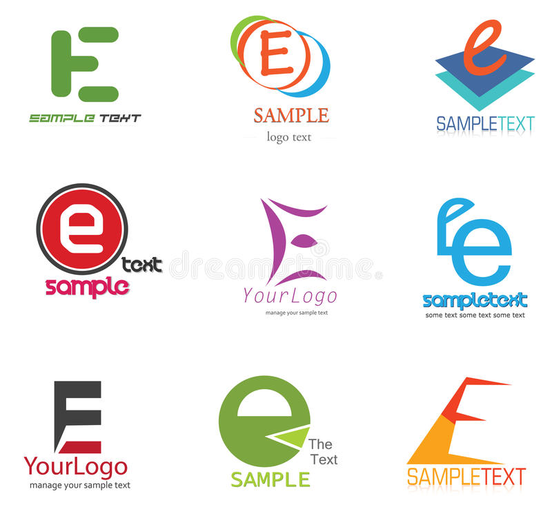 логос письма e иллюстрация штока