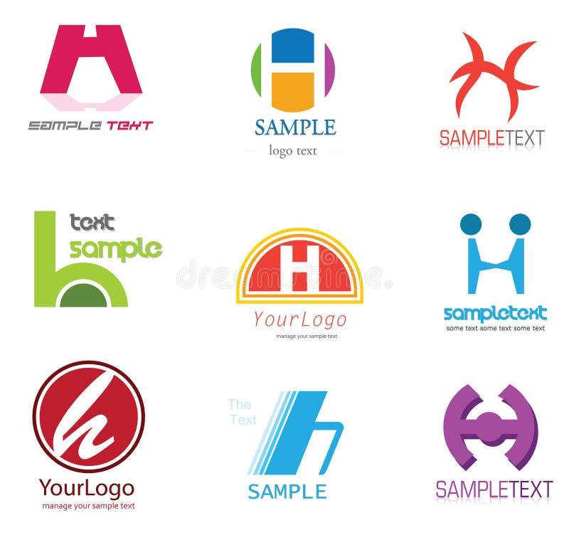 логос письма h иллюстрация вектора