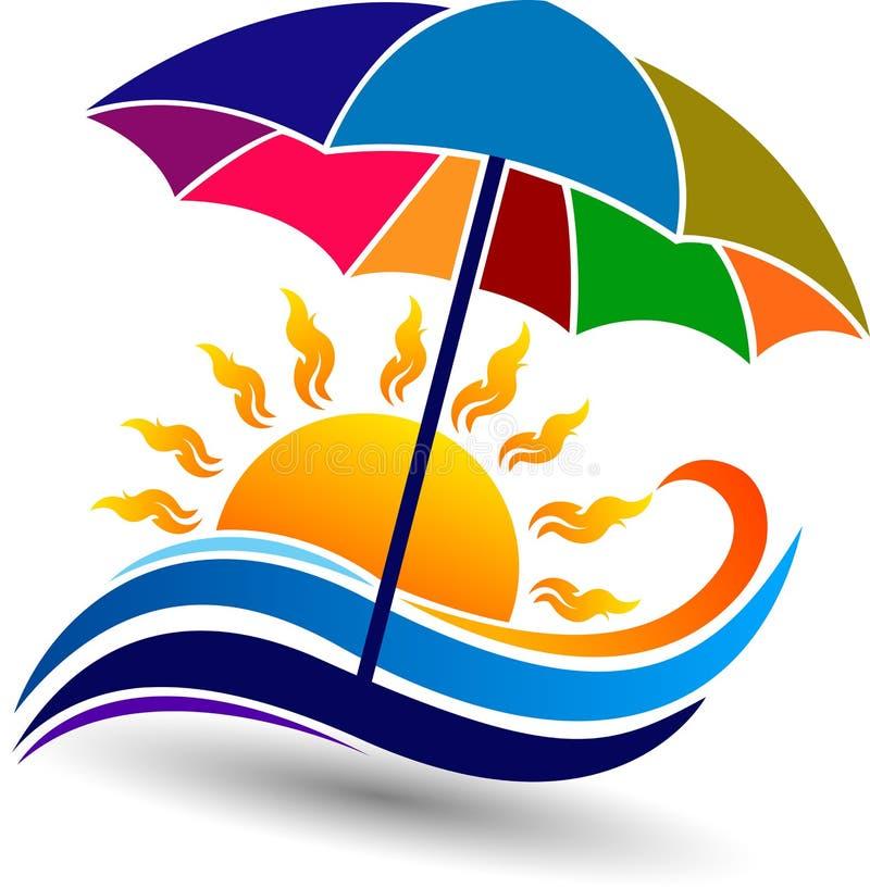 логос плюща 3d представляет лето типа иллюстрация вектора