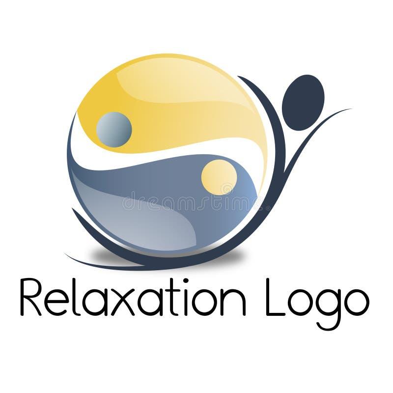 Логос релаксации иллюстрация вектора