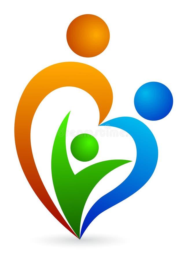 логос семьи иллюстрация вектора