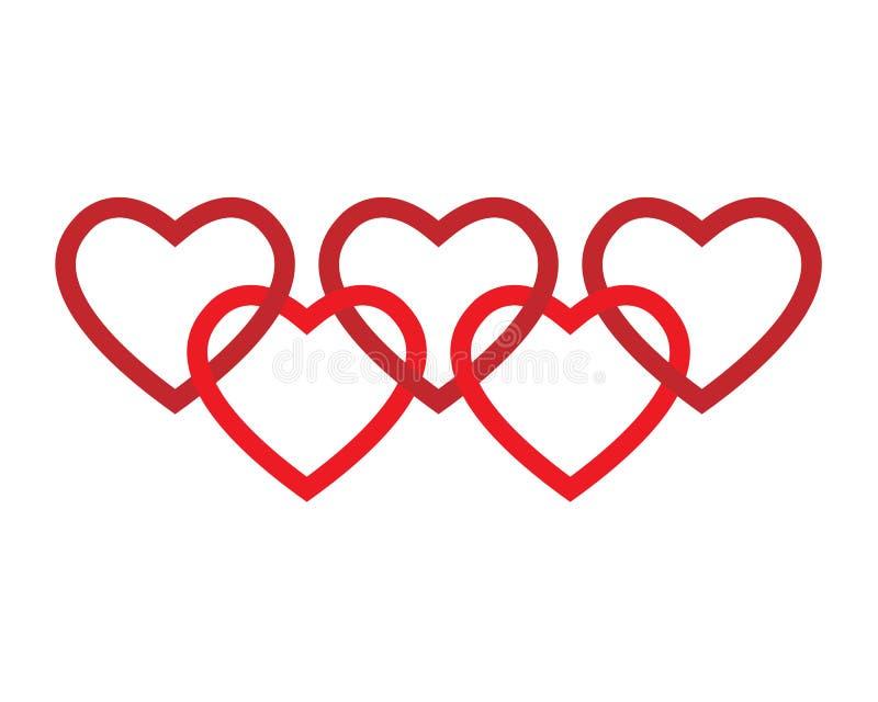 логос сердец иллюстрация вектора
