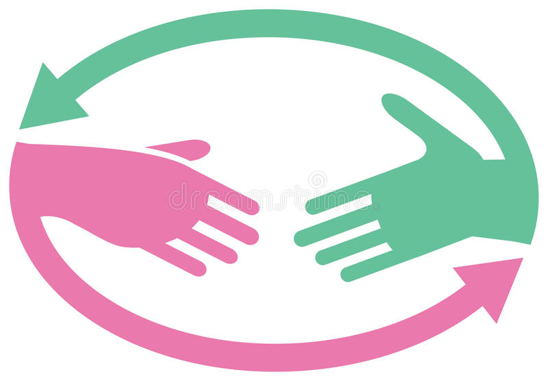логос сотрудничества иллюстрация штока