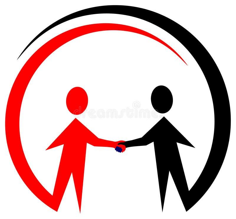 Логос сотрудничества бесплатная иллюстрация