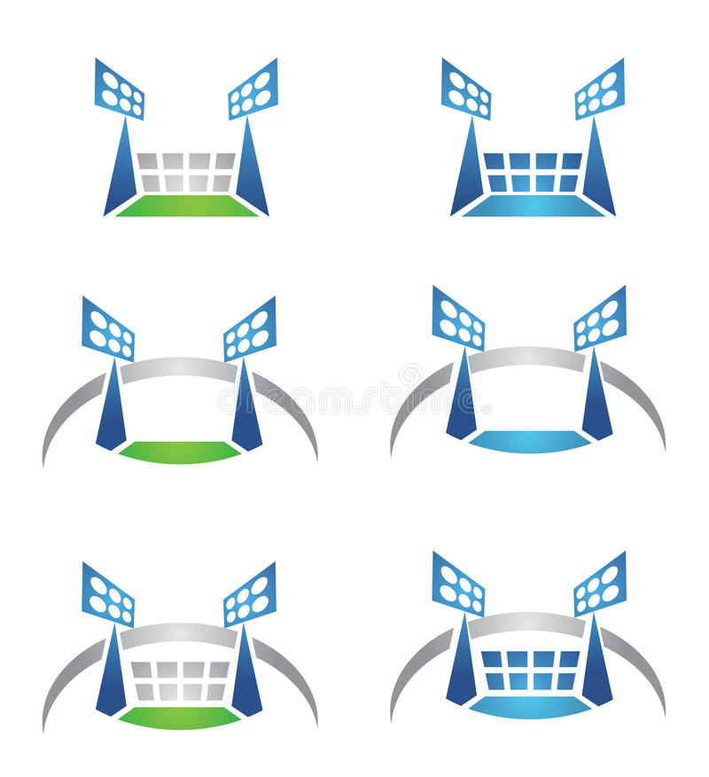 Логос Спорт-арены или стадиона иллюстрация штока