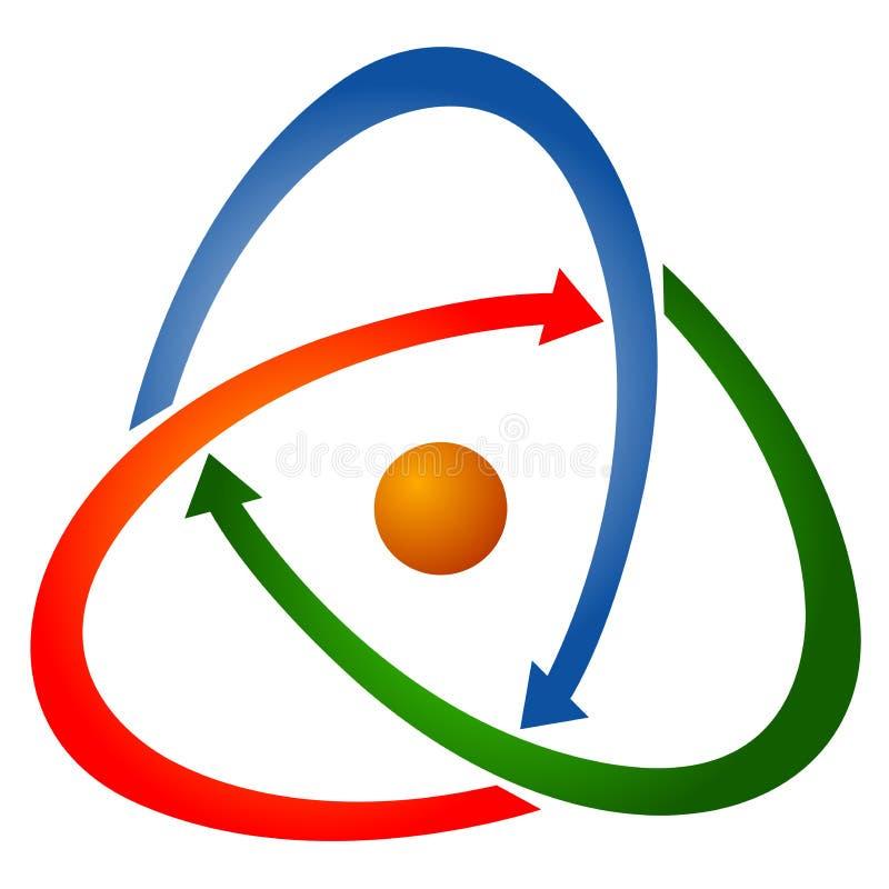 логос стрелки иллюстрация вектора