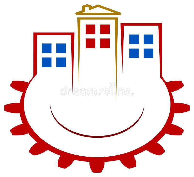 Логос строителей иллюстрация штока