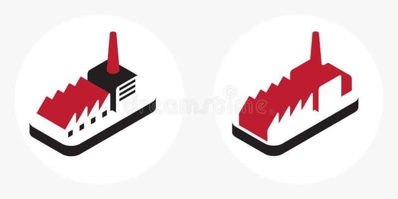 Промышленный логос иллюстрация вектора