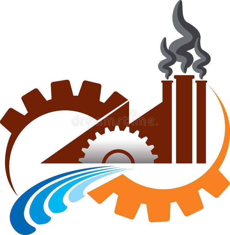 Логос фабрики иллюстрация вектора
