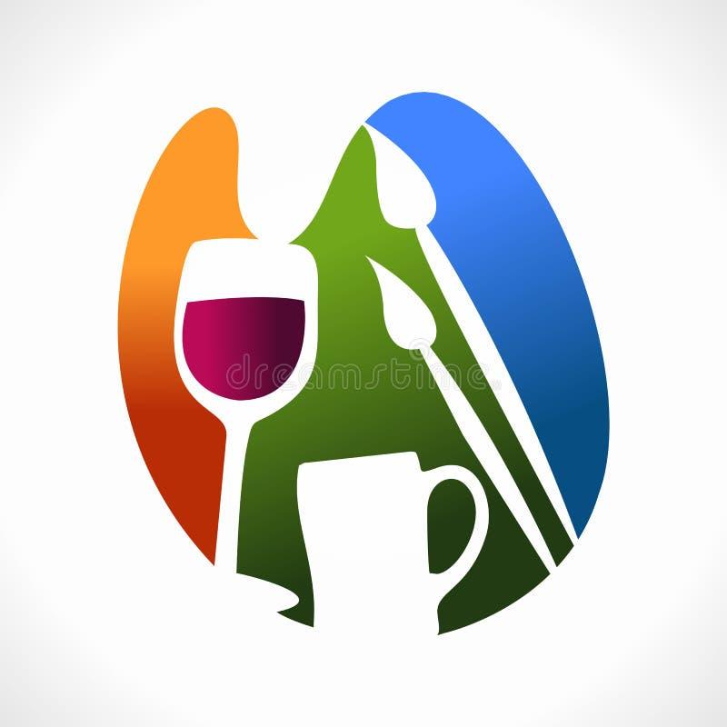 Логос художника (икона) иллюстрация вектора
