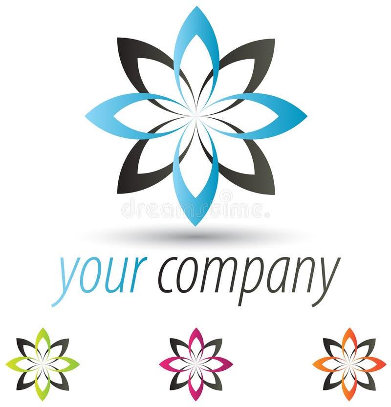 логос цветка самомоднейший иллюстрация штока