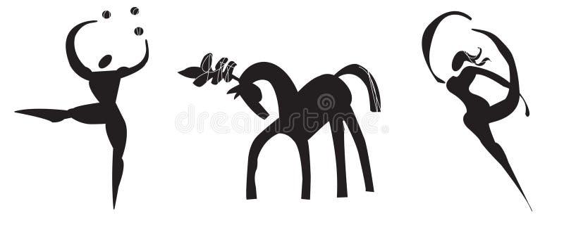 логос цирка стилизованный иллюстрация штока