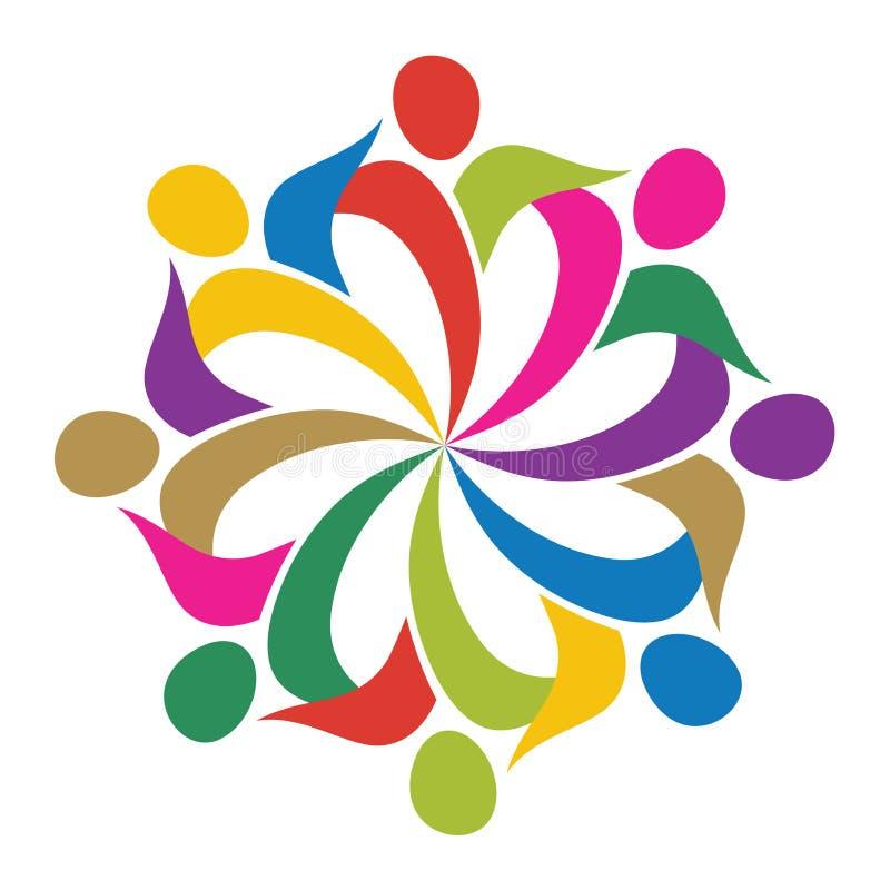 Логос человека цветка иллюстрация вектора