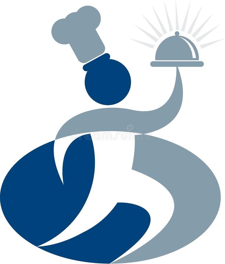 логос шеф-повара иллюстрация вектора