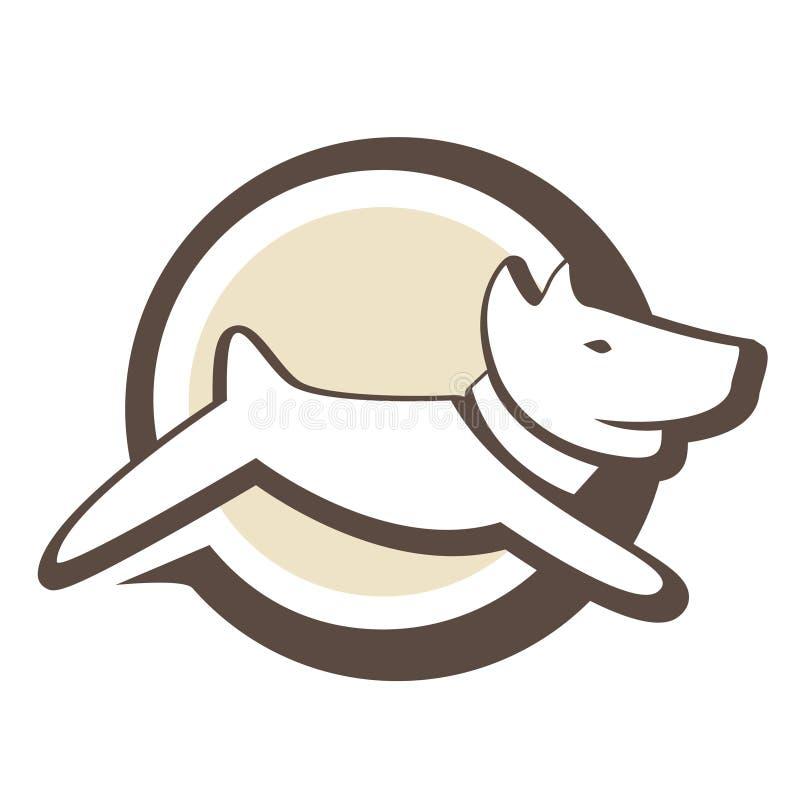 Логос щенка иллюстрация штока