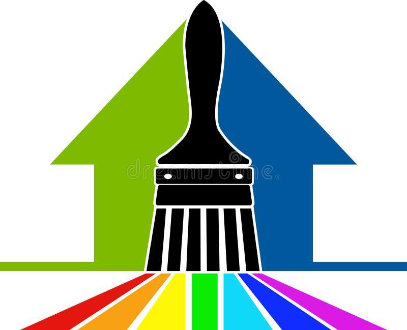 Логос щетки краски бесплатная иллюстрация