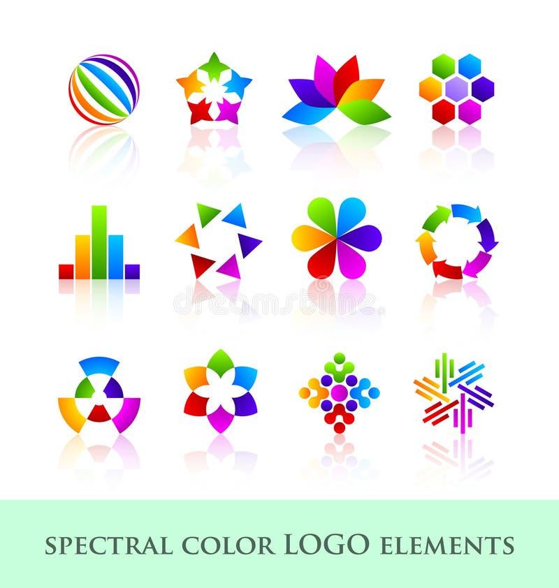 логос элементов конструкции иллюстрация вектора