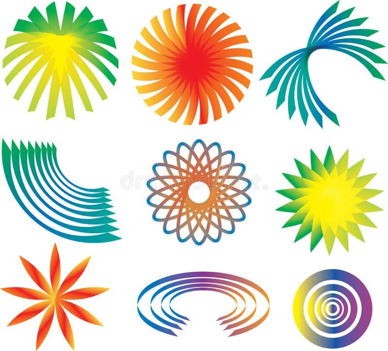 логос элементов иллюстрация штока