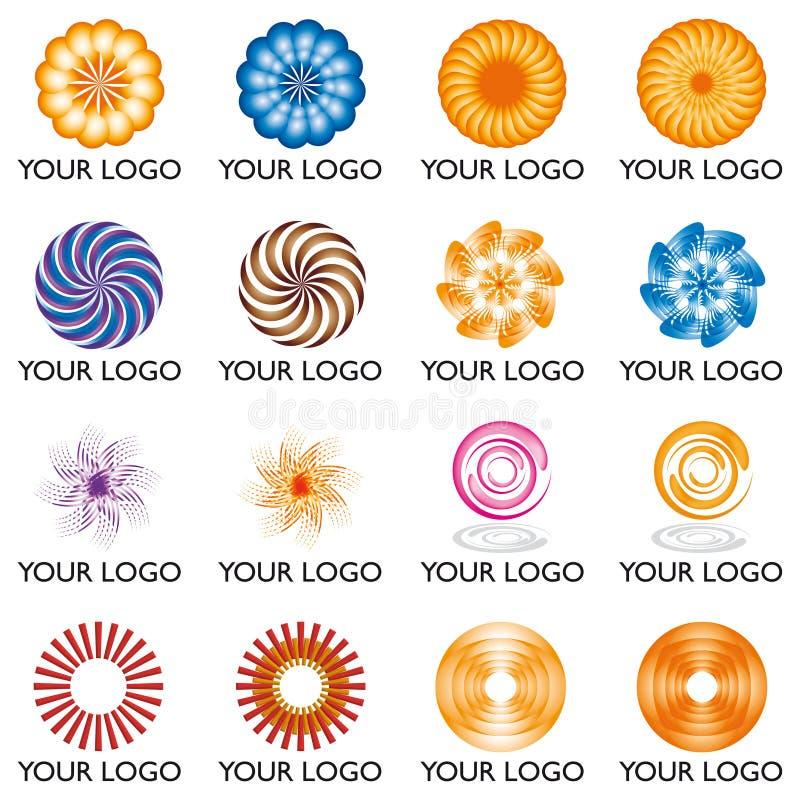 логос 01 элемента иллюстрация штока