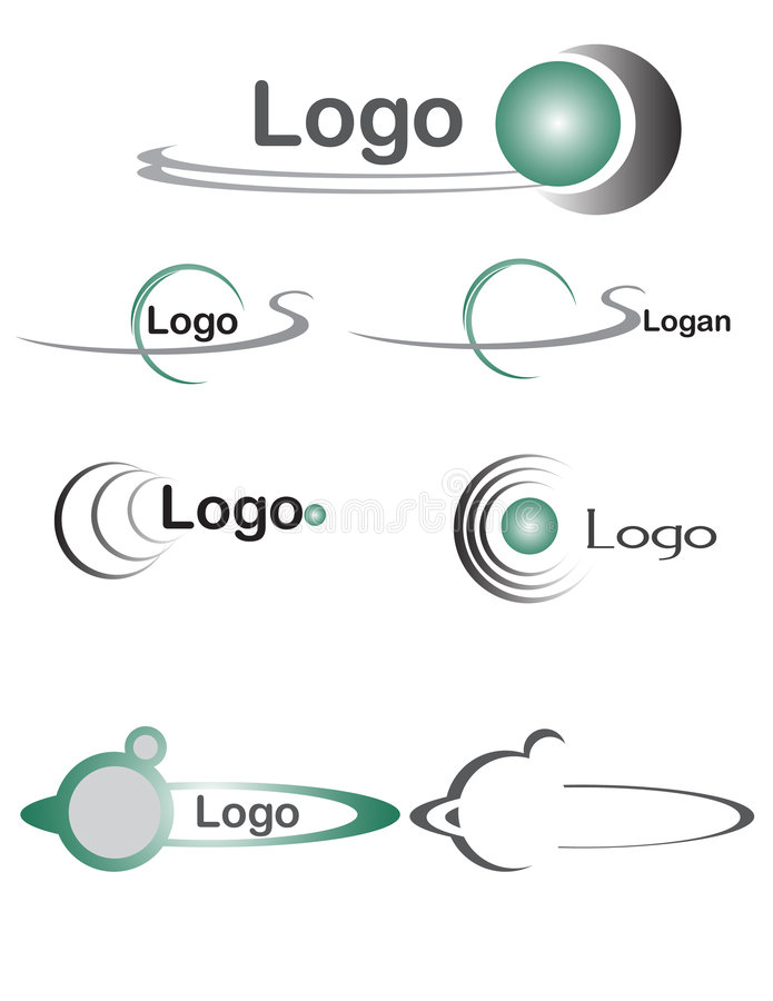 логос 2 шариков иллюстрация штока