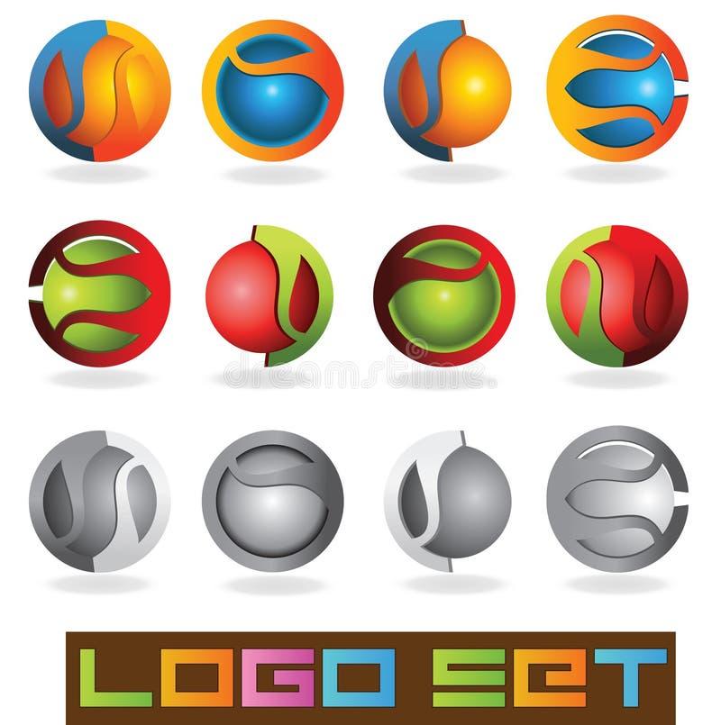 логос 3D иллюстрация вектора