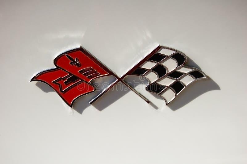 логос Chevrolet Corvette стоковые фото