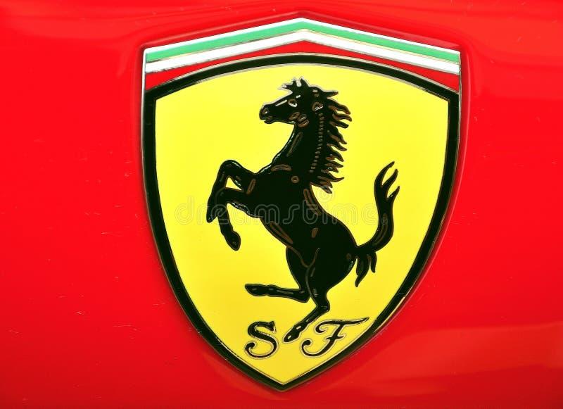 логос ferrari стоковое изображение