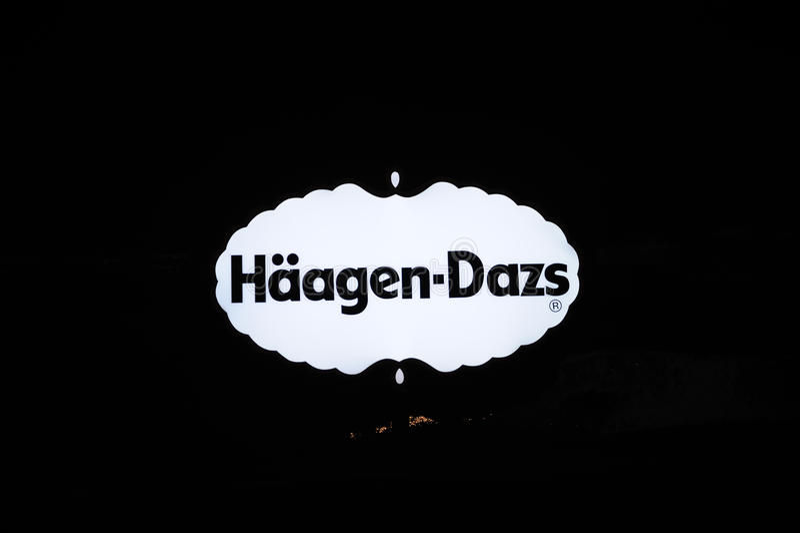 логос haagen dazs стоковые изображения rf