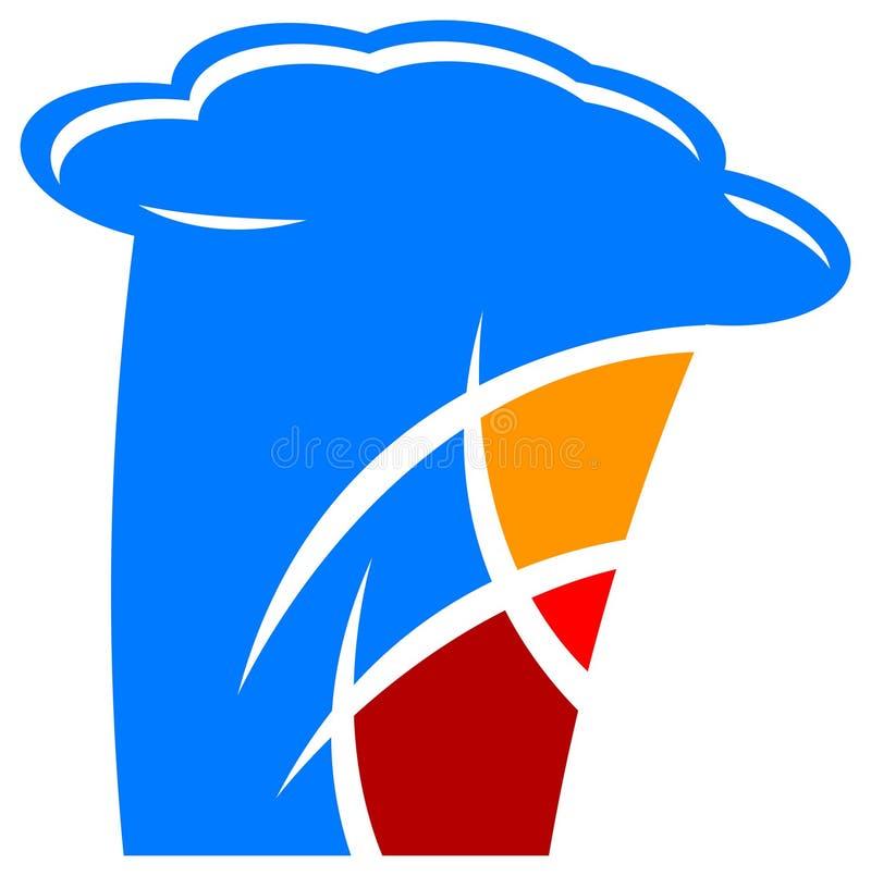 логос international кухни иллюстрация вектора