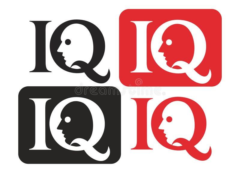 логос iq иллюстрация вектора