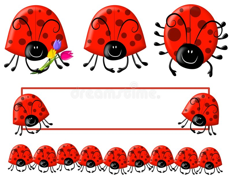 логос ladybug зажима cartoonish искусства