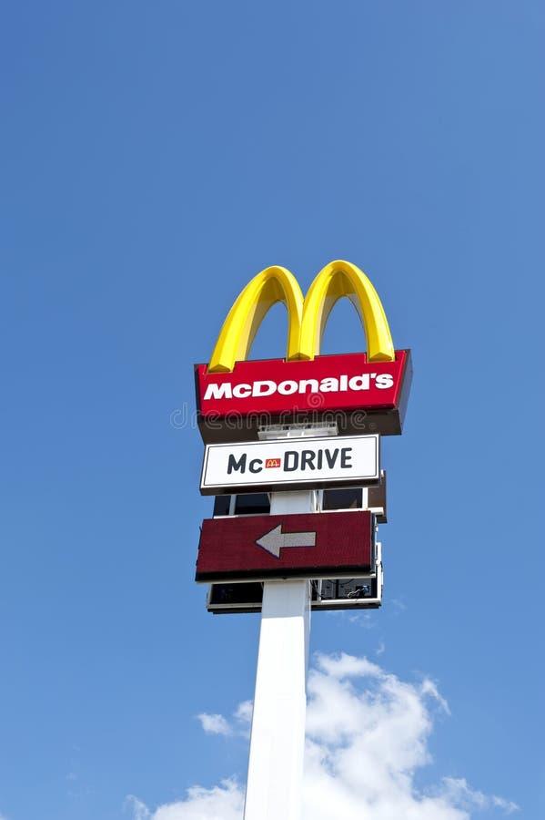 логос mc s donald стоковое фото