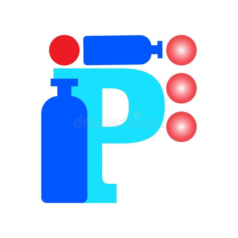 логос p письма В бесплатная иллюстрация
