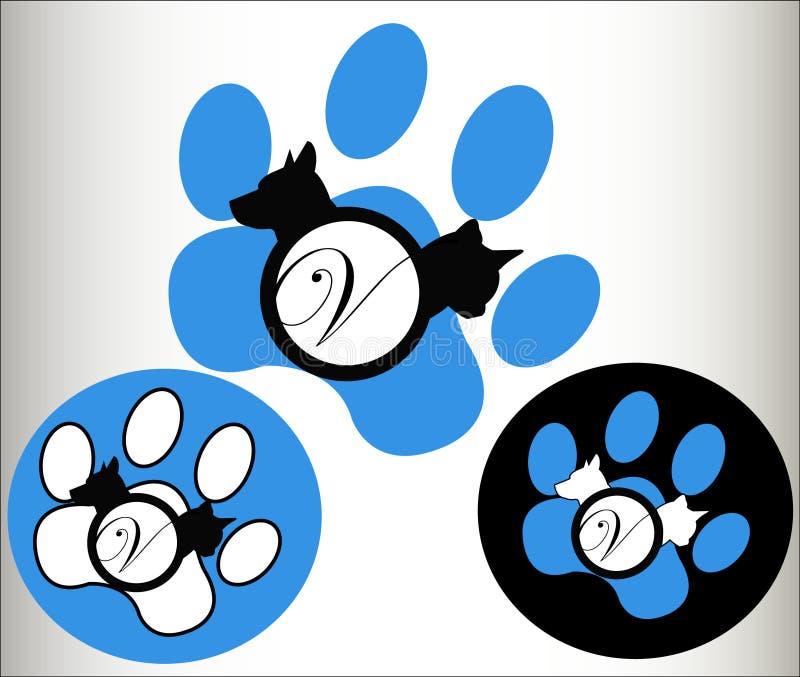 логос pets veterinary иллюстрация вектора